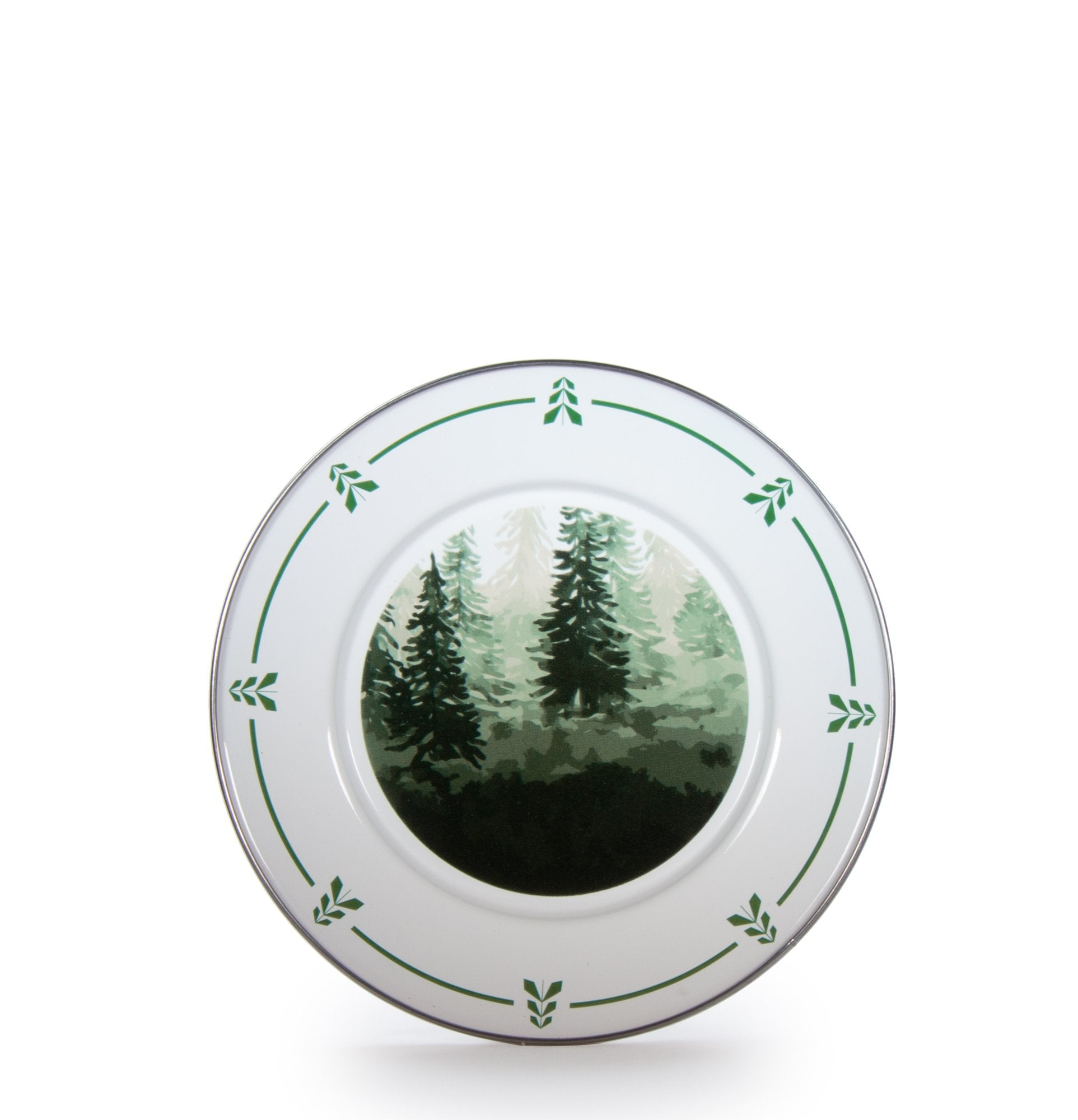 Set of 4 Forest Trees Sandwich Plates