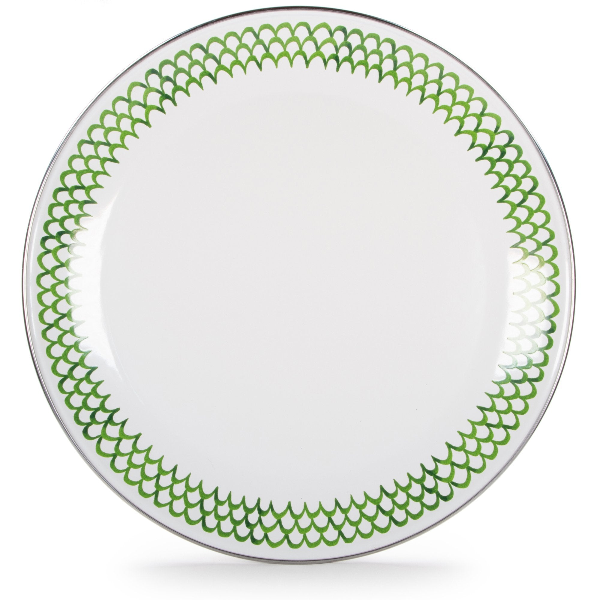 GS36 - Green Scallop Pattern - Charger