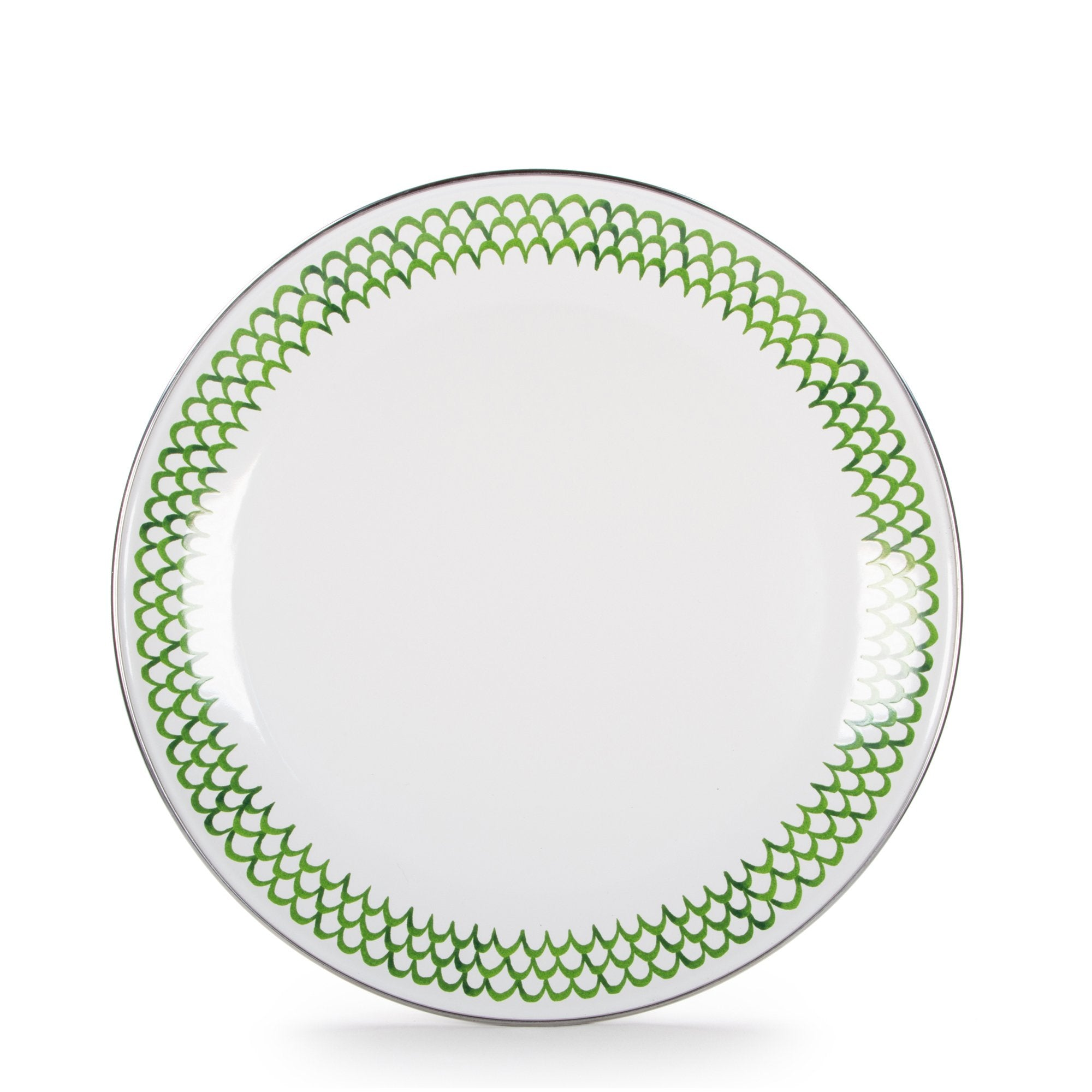 GS56 - Green Scallop Pattern - Dinner Plate