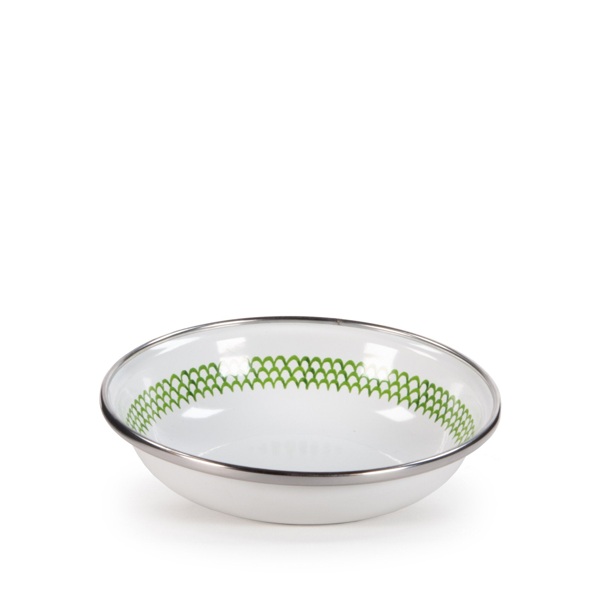 GS59 - Green Scallop Pattern - Tasting Dish