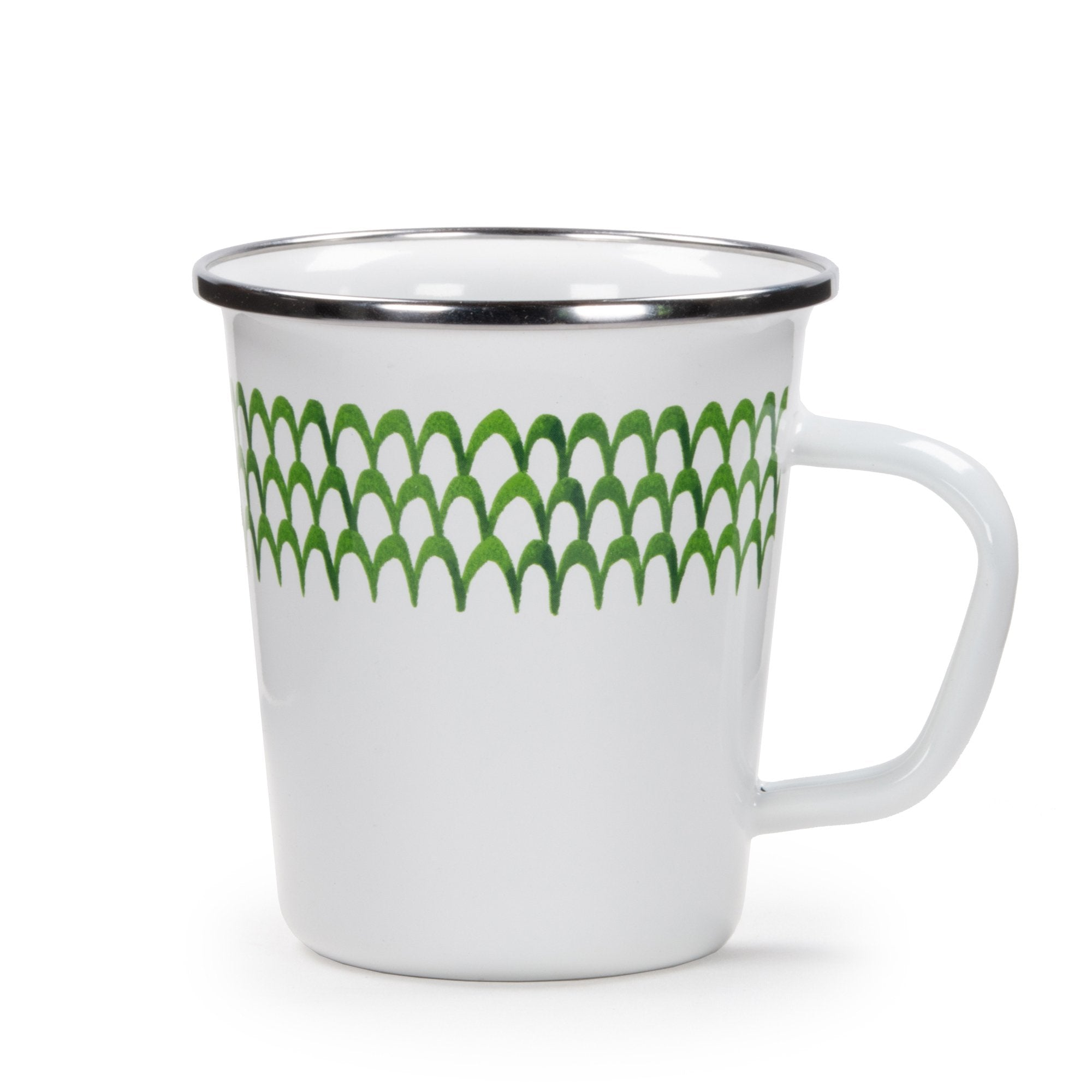 GS66 - Green Scallop Pattern - Latte Mug