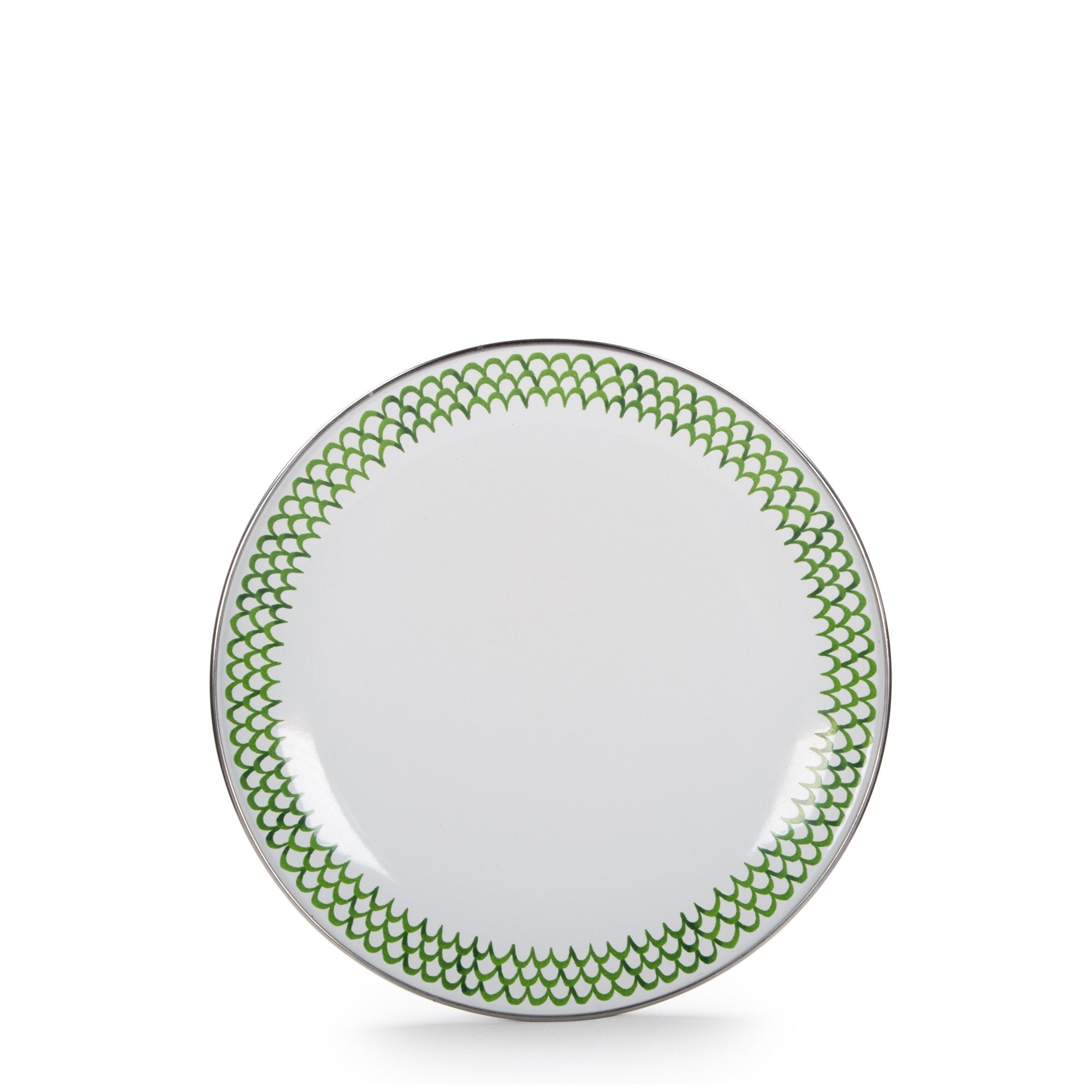 GS69S4 - Set of 4 Green Scallop Sandwich Plates Product 1