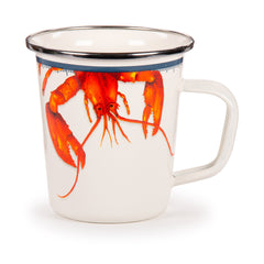 LS66 - Lobster Pattern - Latte Mug