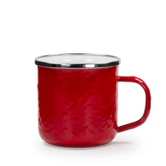 RR05S4 - Set of 4 Solid Red Adult Mugs Product 1