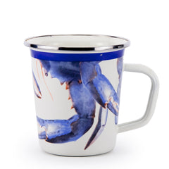SE66S4 - Set of 4 Blue Crab Latte Mugs Product 1