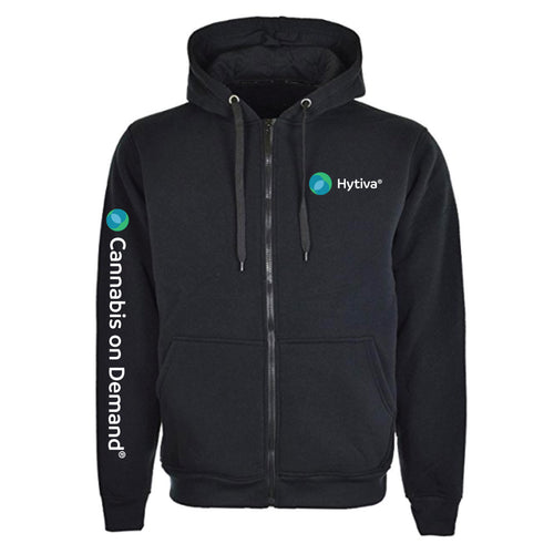 Hytiva Black Zip up Hoodie