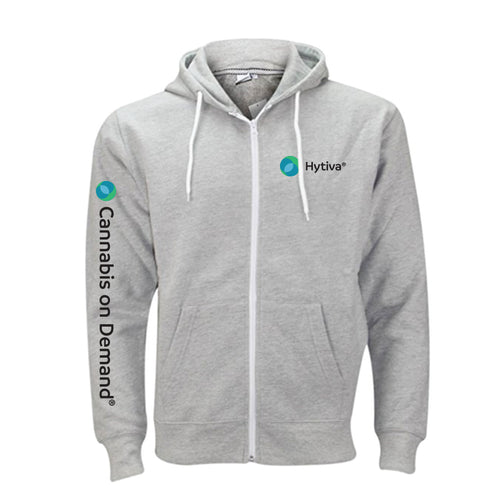 Hytiva Light Gray Zip up Hoodie