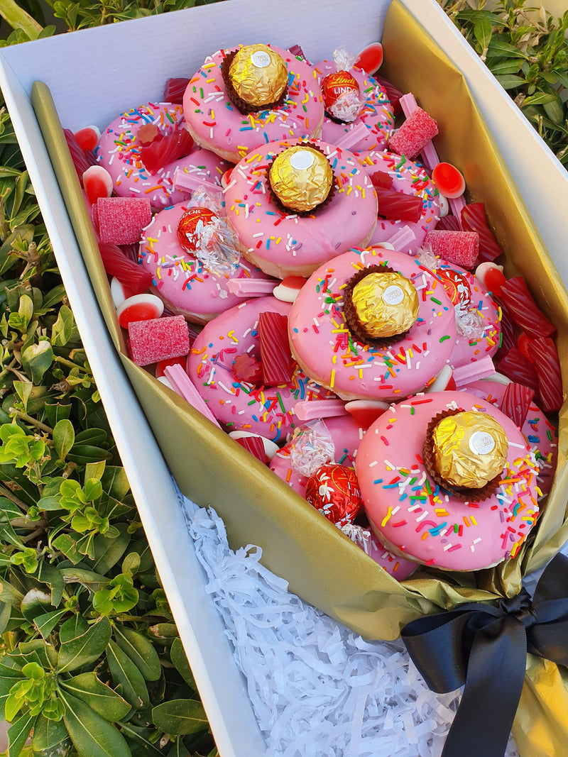 Pink Donut Bouquet - Yummy Box