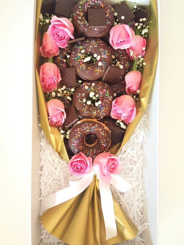 Dark Choc Donut Bouquet