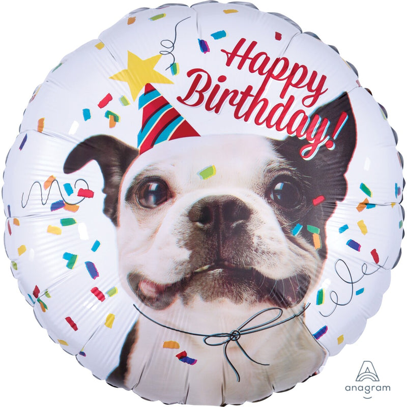 Happy Birthday Dog Foil Balloon