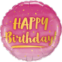 Happy Birthday Pink Foil Balloon - Yummy Box