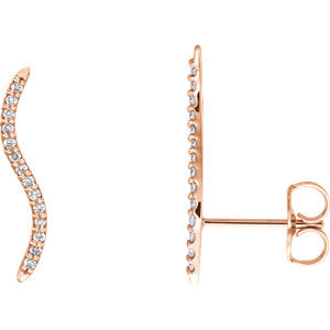 1/6 Carat Diamond Ear Climbers