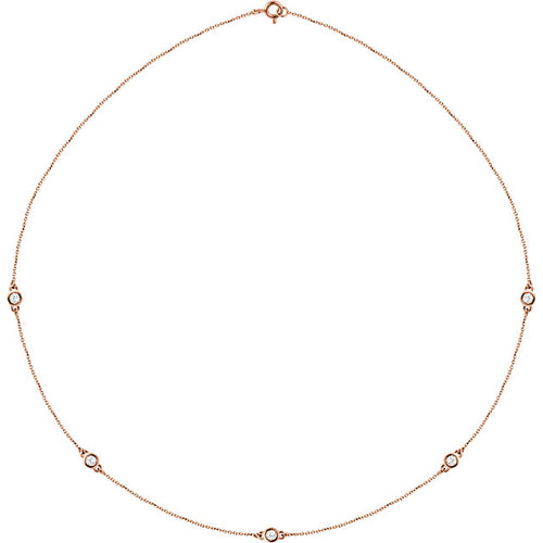 1/2 Carat Diamond Stationary Necklace