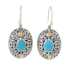 Samuel B Sleeping Beauty Turquoise Earring
