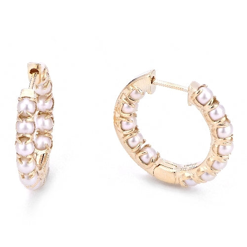 Seed Pearl hoop Earrings
