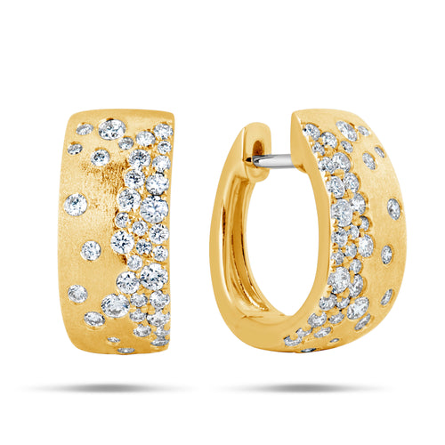 Diamond Huggie confetti earring hoops