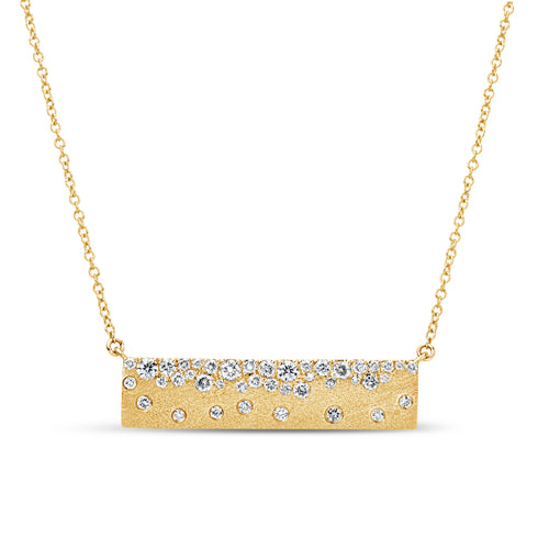 Diamond Confetti Bar Necklace