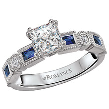 Load image into Gallery viewer, Romance Sapphire and Diamond Semi Mount