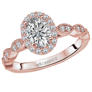 Romance 1/3 CTW 14k Rose Gold Semi Mount
