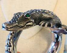 Load image into Gallery viewer, Sterling Silver Gator Bangle