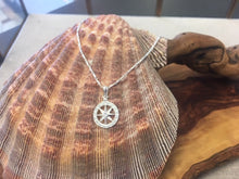 Load image into Gallery viewer, Silver Compass Rose Pendant