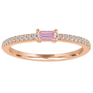 My Story Pink Tourmaline Stackable Ring