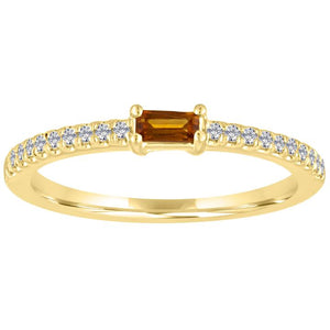 My Story Citrine Stackable Ring