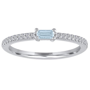 My Story Aquamarine Stackable Ring