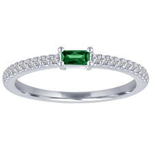 Load image into Gallery viewer, My Story Emerald Stackable Ring