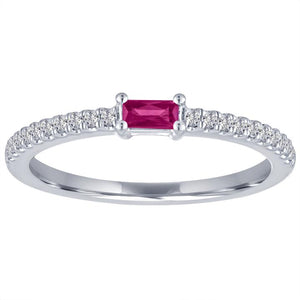 My Story Ruby Stackable Ring