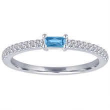 Load image into Gallery viewer, My Story Blue Topaz Stackable Ring