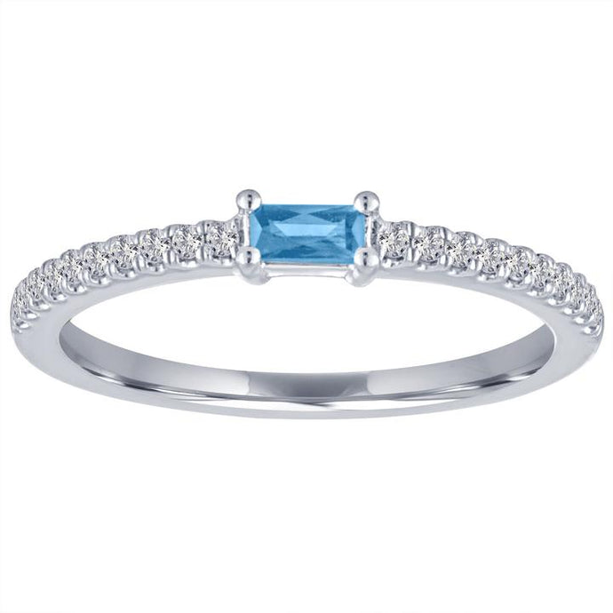 My Story Blue Topaz Stackable Ring