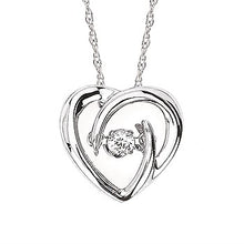 Load image into Gallery viewer, Ostbye Shimmering Diamond Heart Necklace