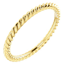 Load image into Gallery viewer, Skinny Rope 14k Gold Band