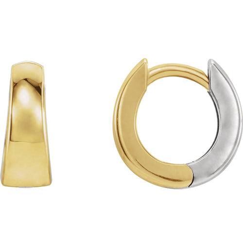 Two Tone Reversable Gold Earrings