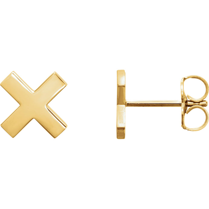 Gold X Earrings