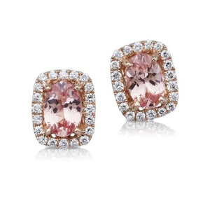 Parle Lotus Garnet/Diamond Earrings