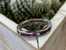 Load image into Gallery viewer, Estate Ruby/Diamond Eternity Band