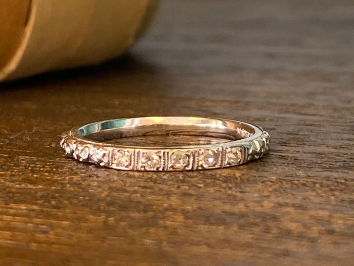 Estate Filigree Diamond Ring