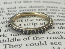 Load image into Gallery viewer, Estate Black Diamond Stackable Ring