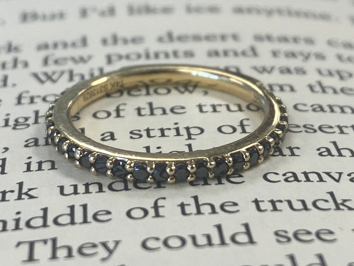 Estate Black Diamond Stackable Ring