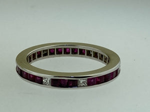 Estate Ruby/Diamond Eternity Band