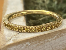 Load image into Gallery viewer, Estate Citrine Stackable Band