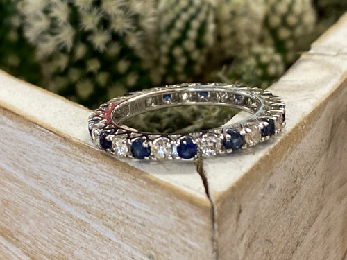 Estate Sapphire/Diamond Eternity Band