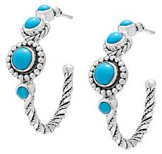 Sleeping Beauty Turquoise Hoops