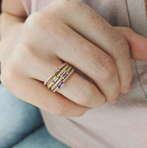 My Story Diamond Stackable Ring
