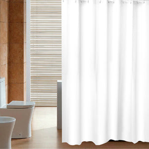 Mildew Resistant Fabric Waterproof Shower Curtain /Water-Repellent & Antibacterial