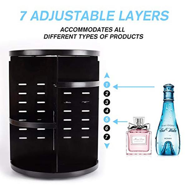 360 Rotating  DIY Adjustable Makeup Organizer