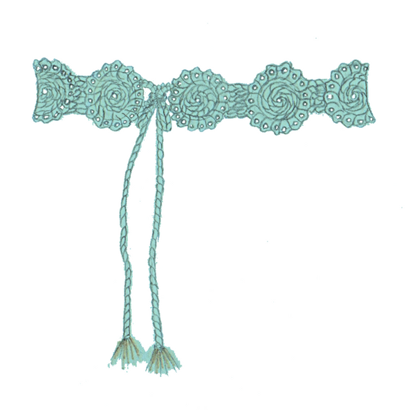 Escondida Hand Crochet Lace Belt - Sophie Anderson - Luxury Designer Bags - Artisan Women's Bags