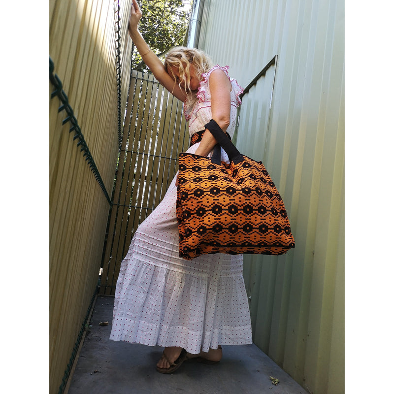 Medium Hand Loomed Mercato Bag - Sophie Anderson - Luxury Designer Bags - Artisan Women's Bags